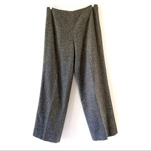 Talbots Italian Wool Gray Multi Trousers Size 12
